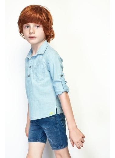 Nebbati Erkek Çocuk Jean Gömlek 19SS0NB3603 Mavi